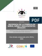 Observatorio de los Derechos de la Niñez y Adolescencia del Uruguay en su último informe.