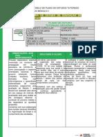 Modelo de Plano de Estudo Tutorado 3 anoPETII