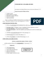 ALIMENTÁNDOME DE LA PALABRA DE DIOS