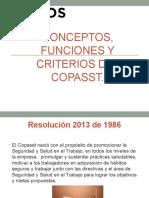 Conceptos, Funciones y Criterios Del COPASST