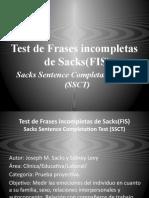 Test de Frases incompletas de Sacks(FIS)