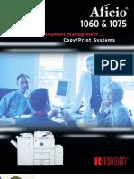 Aficio 1060 & 1075 Brochure