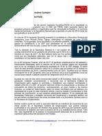 Carta de la corriente interna, Izquierda Socialista, enviada a Pedro Sánchez