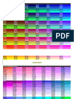 HTML Fonts Colour Codes