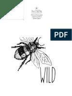 SCP Bee Printable 1