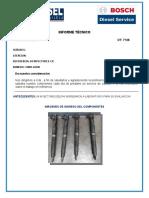 INFORME TECNICO INYECTORES DELPHI OT 7128