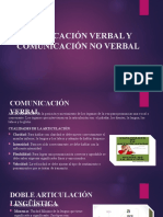 Comunicación Verbal y Comunicación No Verbal