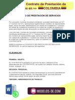 Modelo de Contrato de Prestación de Servicios en Colombia