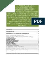 Tema 11 Personalidad 2 Modelos Sociales