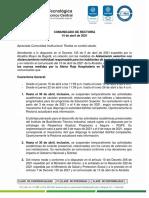 comunicado14abr21 RECTORIA ETITC