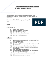 SRS for e-post office system