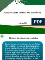 Métodos para reducir los conflictos