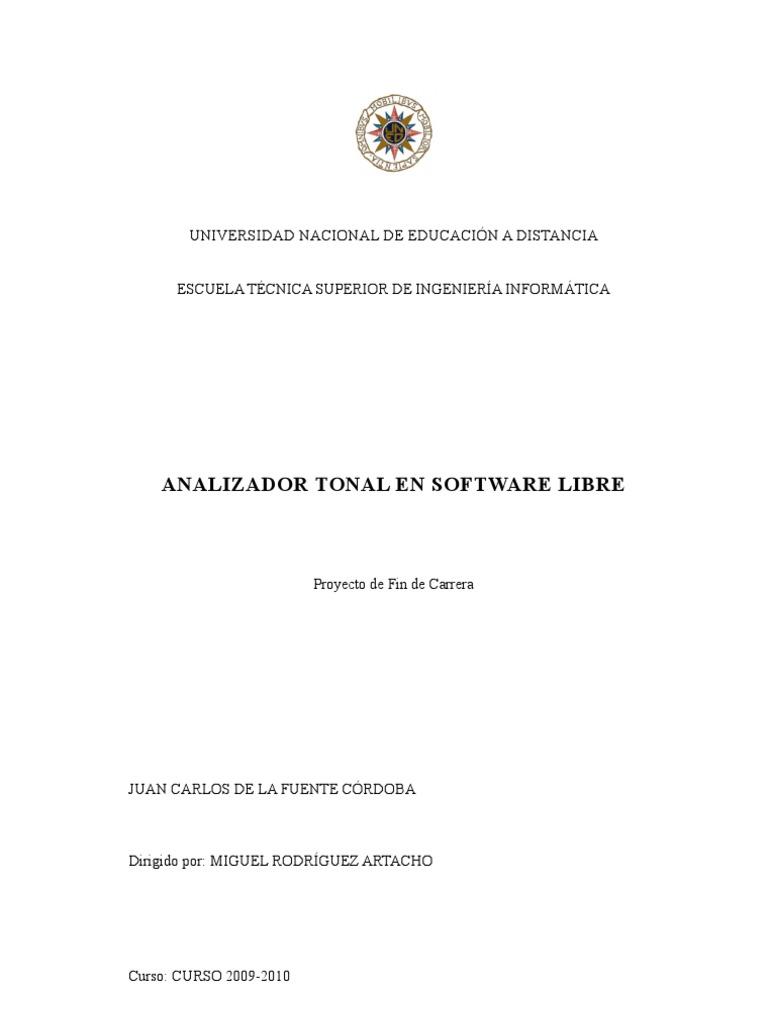 ANALIZADOR TONAL EN SOFTWARE LIBRE IngInformaticaUNED