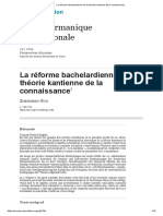 La réforme bachelardienne de la théorie kantienne de la connaissance