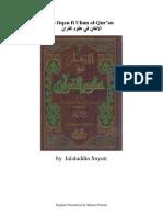Alitqanfiulumalquran-Suyuti English