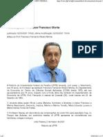 Nota de pesar - Professor Francisco Monte — GOVERNO FEDERAL UNIVERSIDADE FEDERAL DA PARAÍBA - UFPB