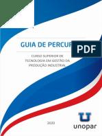 Guia de Percurso CST Gestao Da Producao Industrial Unopar 2020