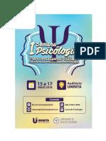 Anais da I Semana de Psicologia - Transversalizando Diálogos - Políticas, lutas e diversidades na Psicologia