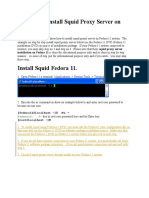 tep by Step Install Squid Proxy Server on Fedora 11
