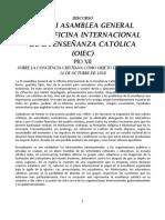 A LA III ASAMBLEA GENERAL DE LA OIEC - PIO XII