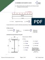 Ejercicio de Flexion y Corte Lb = 0.5L