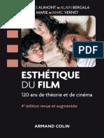 Esthétique Du Film, 120 Ans de Théorie Et de Cinéma (J. Aumont. Armand Colin, 2016)