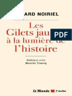 Les gilets jaunes à la lumière de l'histoire (G. Noiriel. Le Monde, 2019)