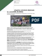 Guardie Ecologiche Volontarie diplomate all'Università di Urbino - Il Metauro.it, 12 maggio 2021