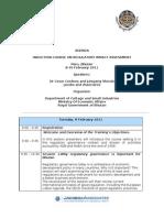 Agenda Paro 8-10 February 2011 sent