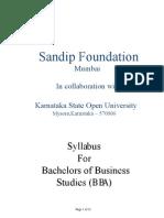 Distance BBA Syllabus Karnataka State Open University