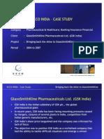 ECCO India Case Study - GSK Pharma