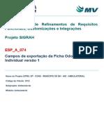 ESP-A-074 - Documento de Visão - Campos de Exportação Da Ficha de Atendimento Odontológico Individual_Vrs3.Docx