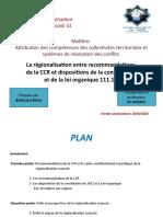 sujet régionalisation ccr