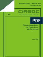 DIMENSIONAMIENTO DEL COEFICIENTE DE SEGURIDAD