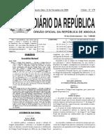 Lei 39 20 de 11 de Novembro Lei Que Aprova o Codigo de Processo Penal Angolano 1