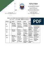 Emploi de temps 13-17-10-2020