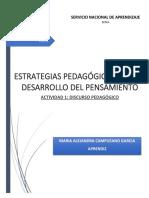 ACTIVIDAD 1-EVIDENCIA DISCURSO PEDAGOGICO