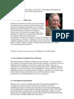 El lingüista Noam Chomsky elaboró la lista de las