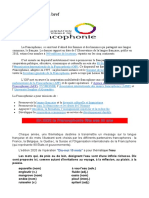La Francophonie en bref 2020 mars