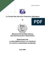 Questions en Matière de Réglementation Et de Contrôle de Takaful Assurance Islamique 2006 France Et Tunisie