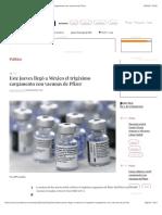 La Jornada - Este jueves llegó a México el trigésimo cargamento con vacunas de Pfizer
