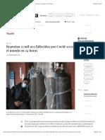 La Jornada - Reportan 13 mil 903 fallecidos por Covid-19 en el mundo en 24 horas