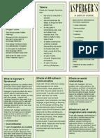 Asperger Leaflet PDF Export