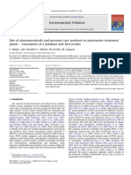 Fate of pharmaceuticals and personal care products in wastewater treatment plant Conception of a database and first results
