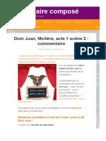 Dom Juan, Acte 1 Scène 2- Profession de Foi d'Un Séducteur