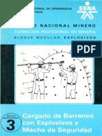 Explosivos Cargado de Barrenos Con Explosivos y Mecha de Seguridad Mdulo No 3