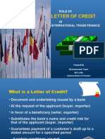 Role of LC in International Trade Finance
