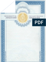 KIMEP's License