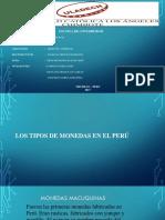 TIPOS DE MONEDAS EN EL PERÚ