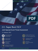 Super Bowl threat assessment 2011